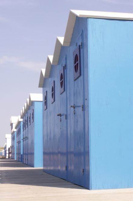 Cabines de plage - Plage, Vendee, Saint Gilles croix de vie