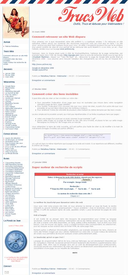Outils, Trucs et Astuces pour Webmasters !